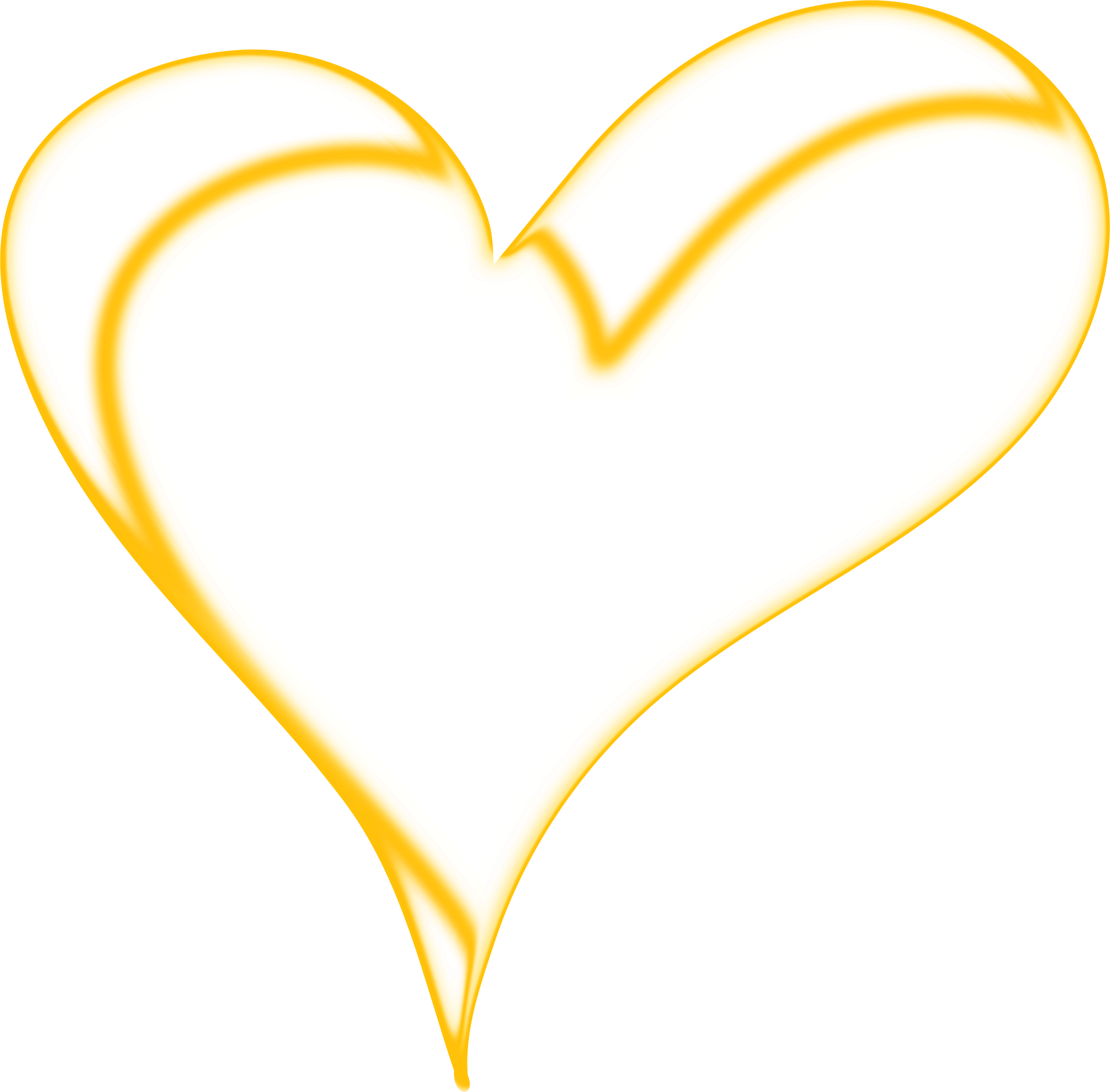 Gold heart outline clipart clip art black and white Clipart - Heart of Gold clip art black and white
