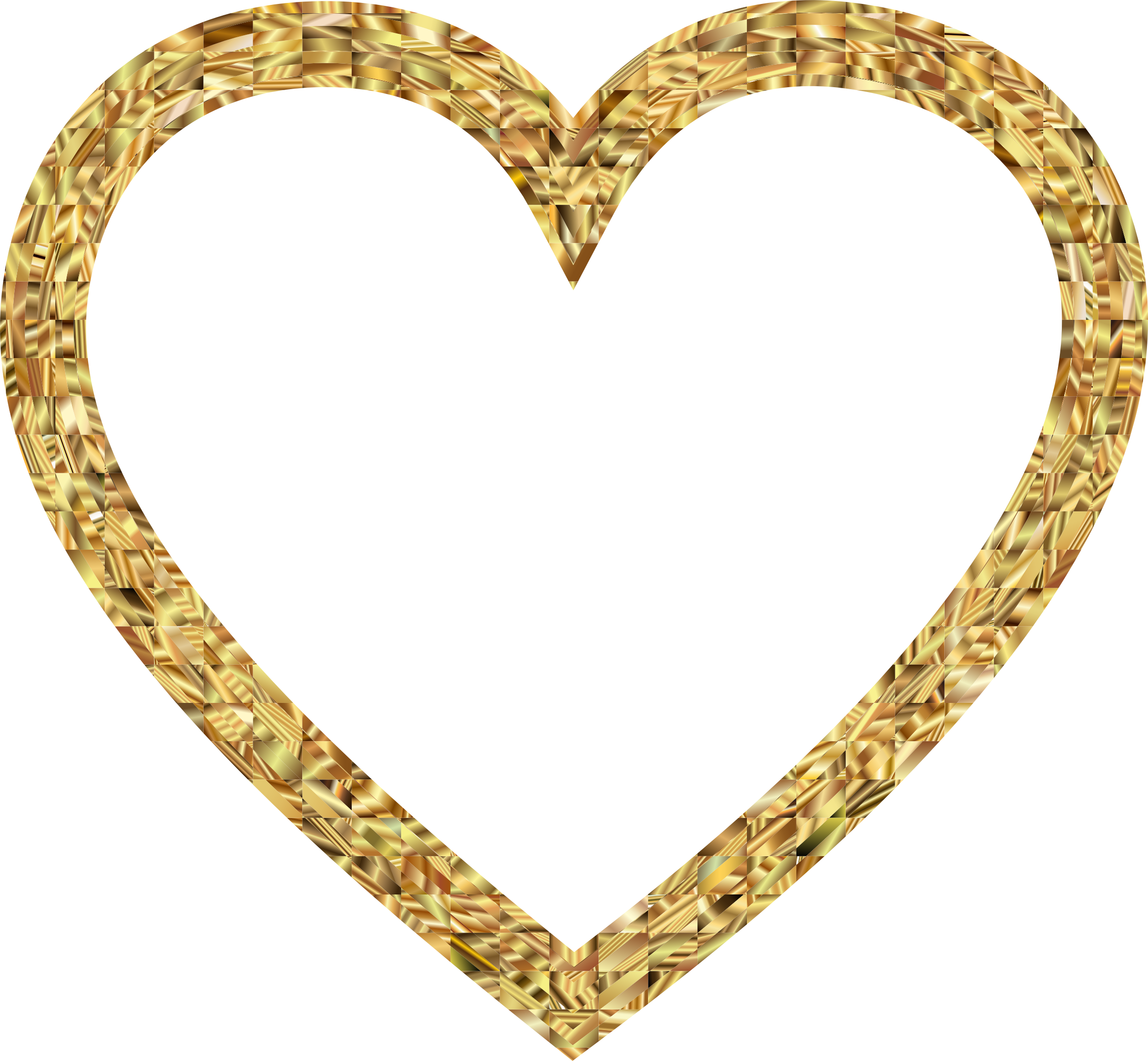 Gold heart outline clipart picture free library Golden Heart Icons PNG - Free PNG and Icons Downloads picture free library