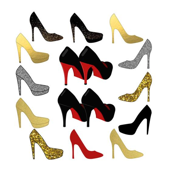 Gold heels clipart svg library library Shoes Clipart, Sparkle Clipart, High Heel Clipart, Wedding Clipart ... svg library library