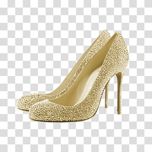 Gold heels clipart clip art transparent download High-heeled footwear Shoe Stiletto heel, pump transparent background ... clip art transparent download
