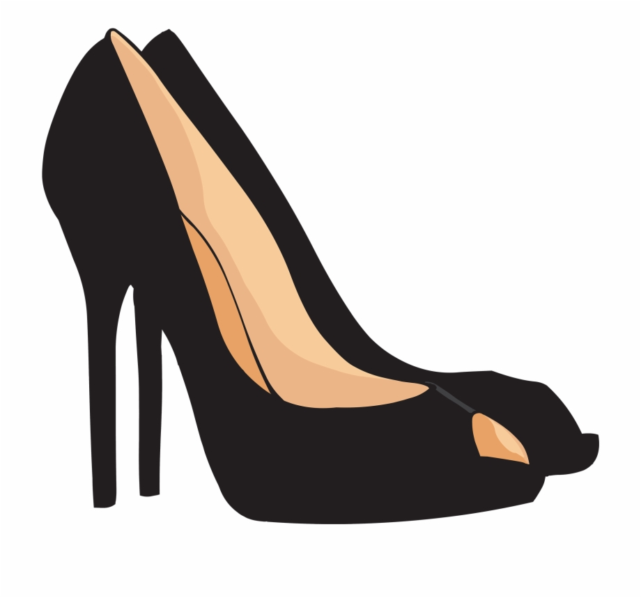Gold heels clipart picture freeuse stock Black Heels Png Clipart - High Heel Clipart Png Free PNG Images ... picture freeuse stock