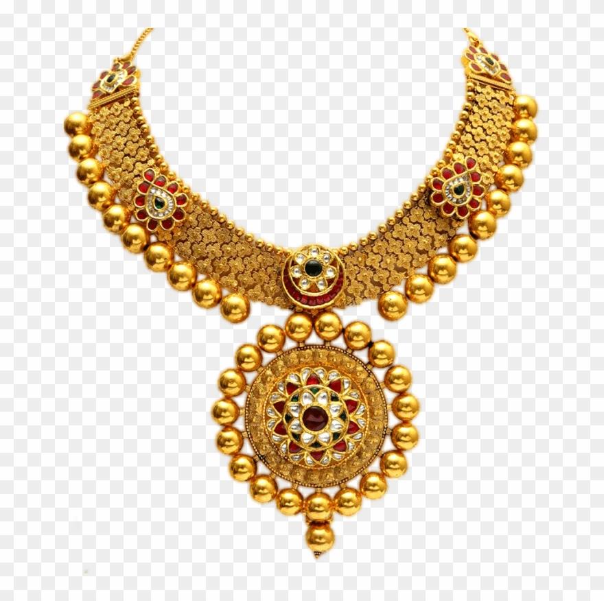 Laxmi haar clipart jpg transparent Necklace Clipart Round Gold - Gold Jewellery Png Transparent Png ... jpg transparent