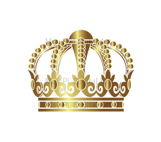 Gold king crown clip art graphic library download Gold Crowns Digital Clip Art Crown Royal Clipart Scrapbook School ... graphic library download
