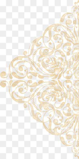 Gold lace pattern clipart image transparent library Gold Lace Texture Ornament, Ornament Clipart, Lace, Grain PNG ... image transparent library