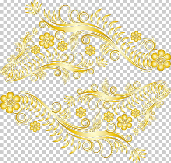 Gold lace pattern clipart vector freeuse Gold Lace Pattern PNG, Clipart, Circle, Encapsulated Postscript ... vector freeuse