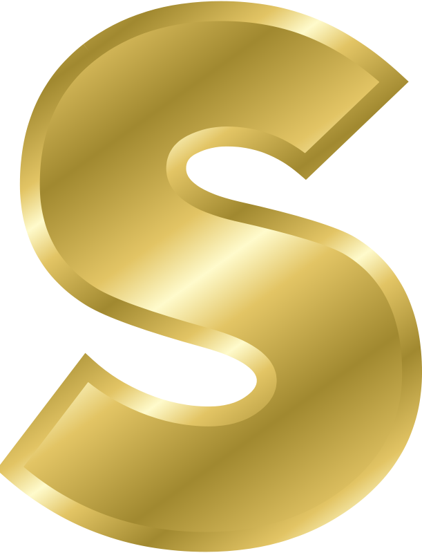 Gold letters clipart