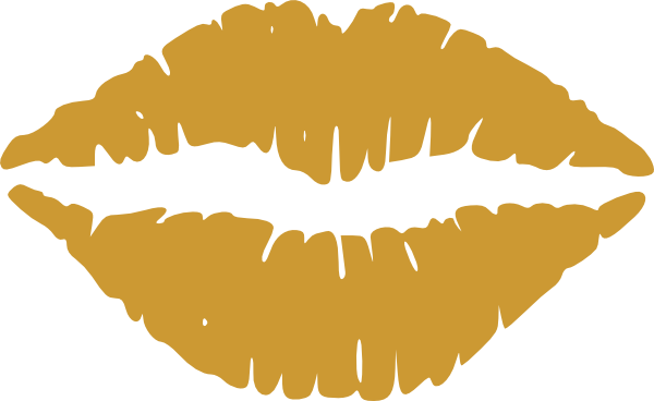 Gold lips clipart image free stock Gold Lips Clipart Clip Art at Clker.com - vector clip art online ... image free stock
