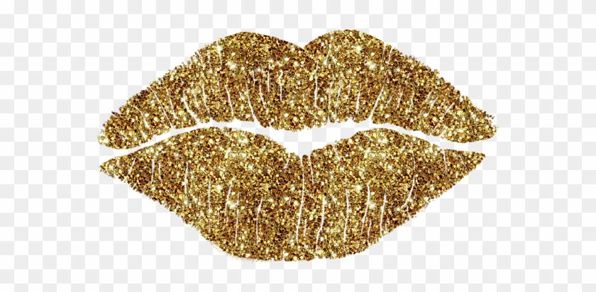 Gold lips clipart png freeuse library Gold Lips Png For - Transparent Png Gold Glitter Kiss, Png Download ... png freeuse library