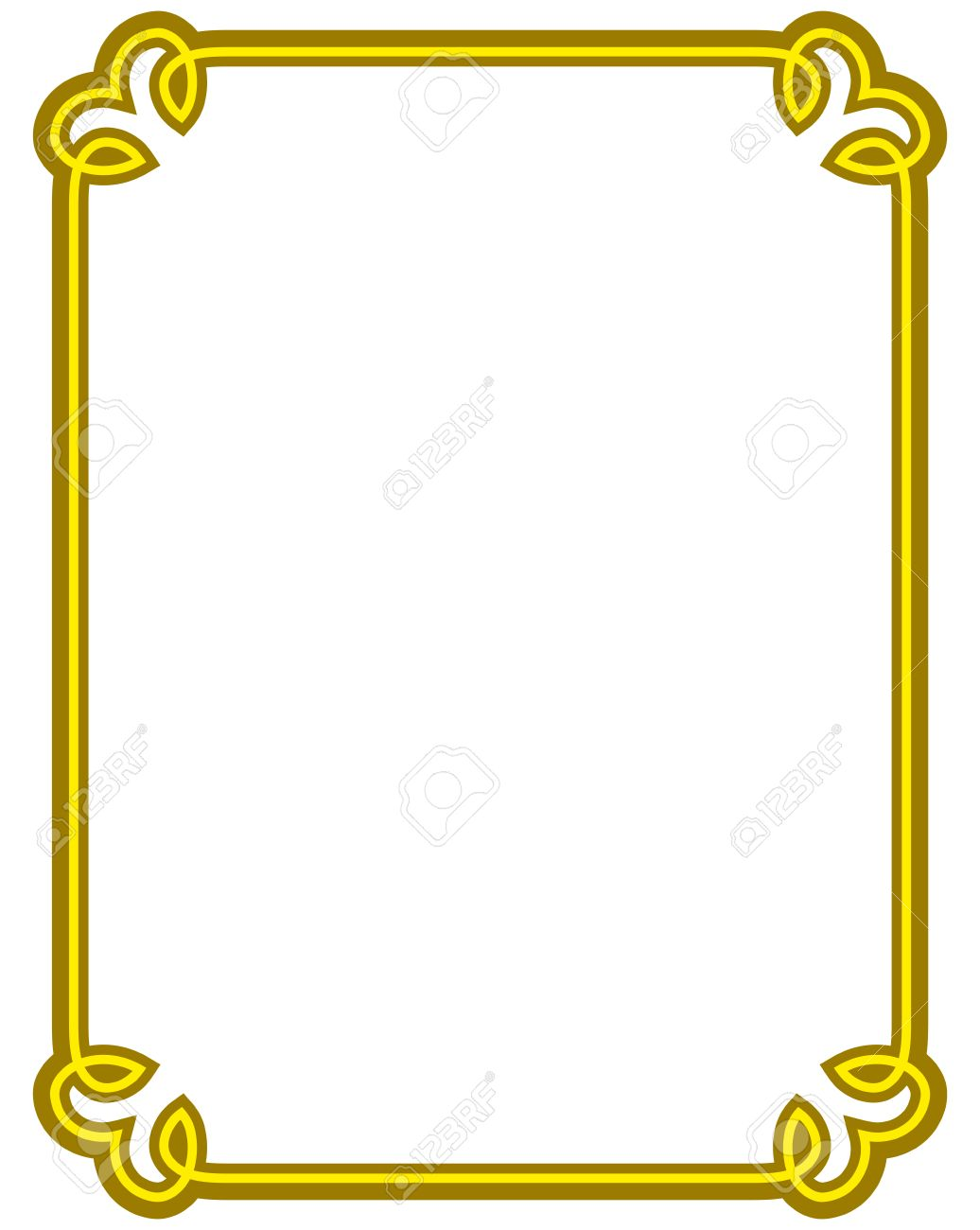 Simple gold border clipart clip royalty free download Gold Border Clipart | Free download best Gold Border Clipart on ... clip royalty free download