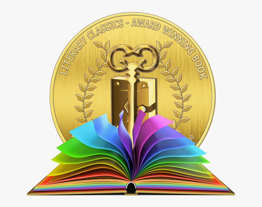 Gold medal in an open bible clipart vector jpg transparent library Seal Clipart Book Award - Open Book Clip Art Color #416329 - Free ... jpg transparent library