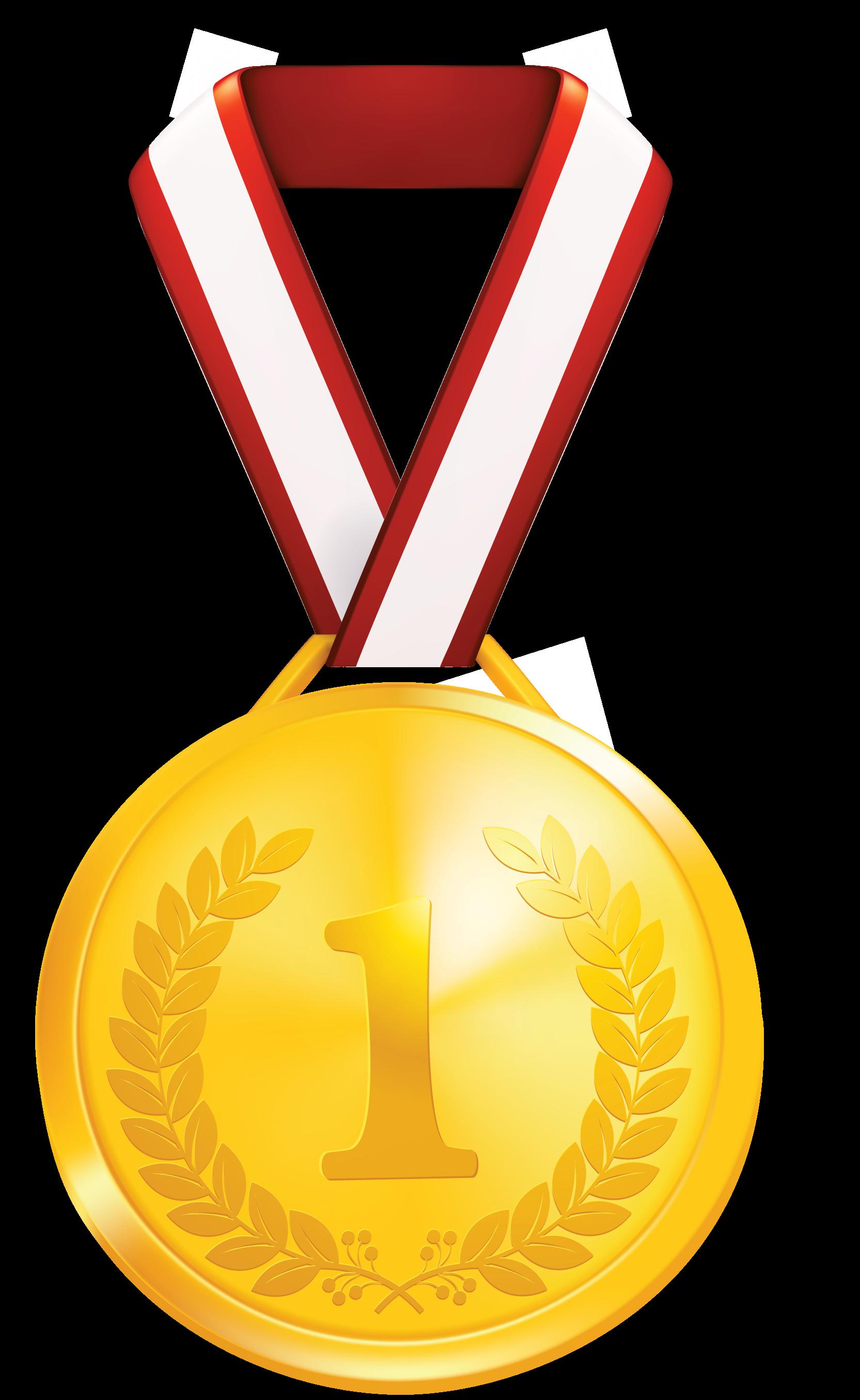 Gold medallion clipart