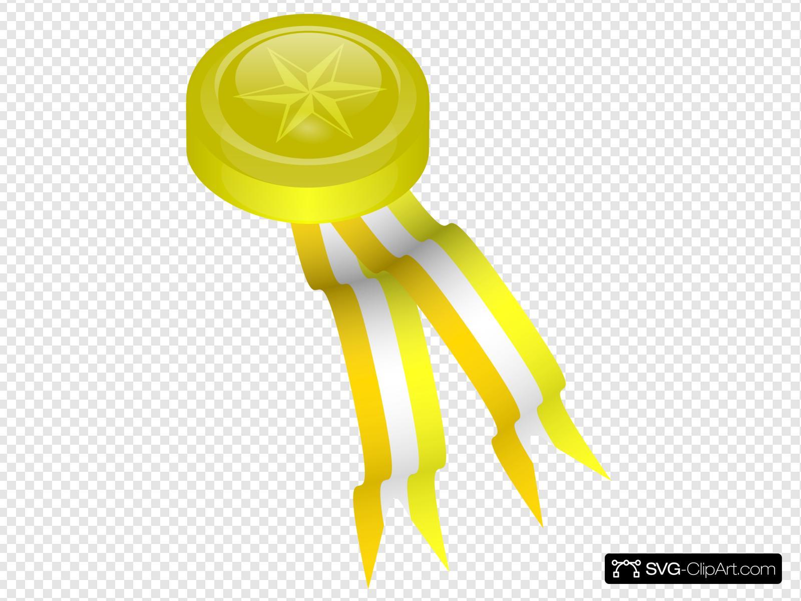 Gold medallion clipart svg black and white library Gold Medallion Clip art, Icon and SVG - SVG Clipart svg black and white library