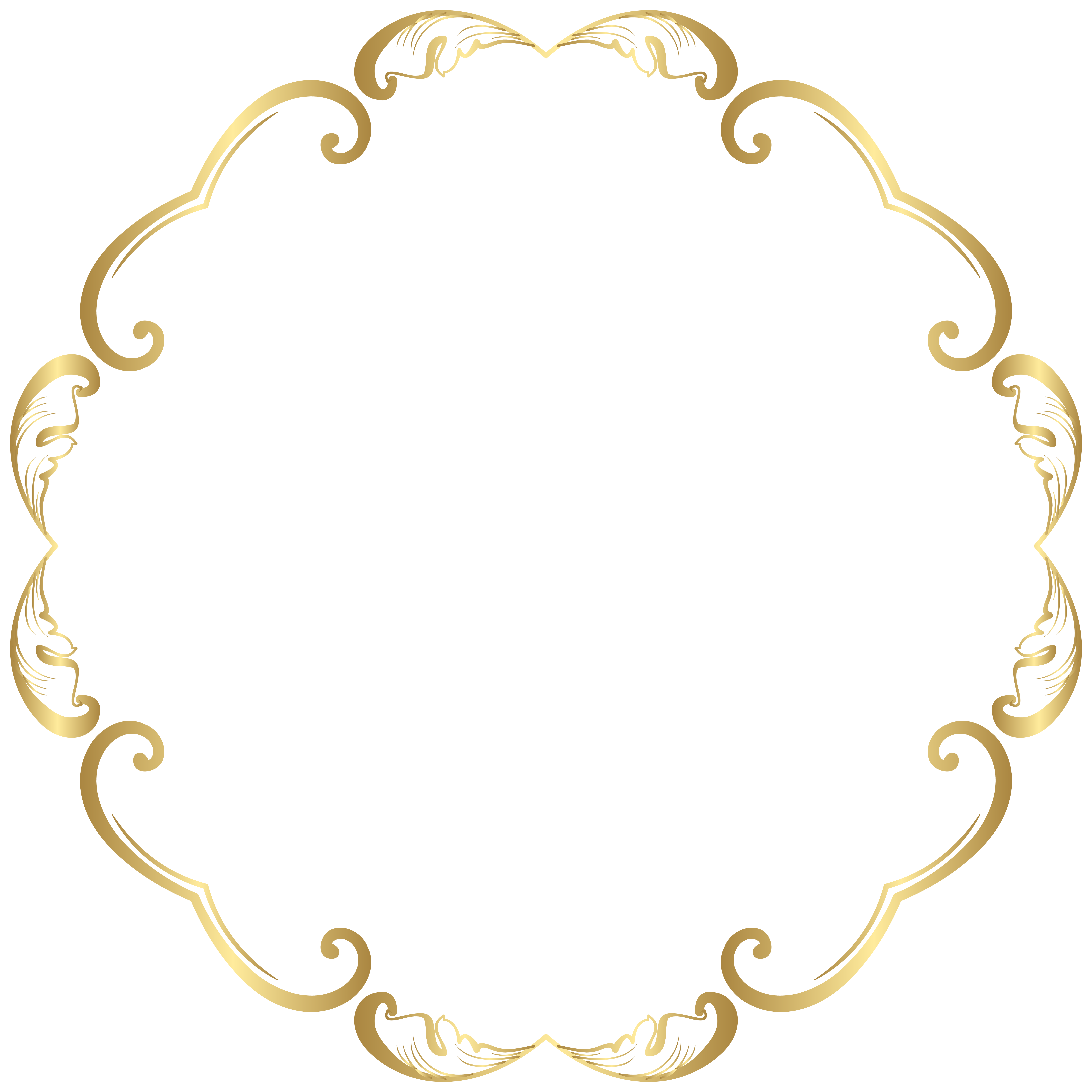 Gold money chain clipart with transparent backound banner black and white library Decorative Round Border Frame Transparent Image | Gallery ... banner black and white library
