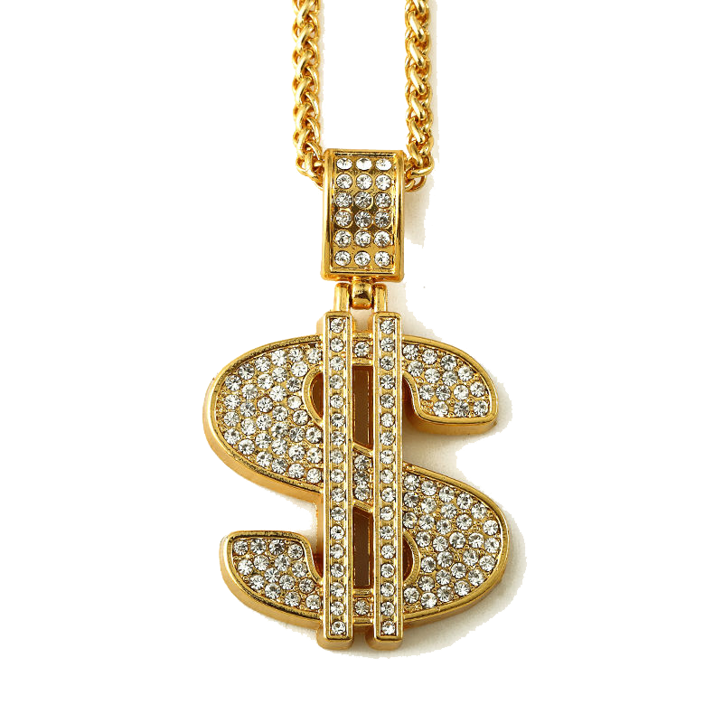 Gold money chain clipart with transparent backound picture transparent library Gold Dollar PNG Photos | PNG Mart picture transparent library