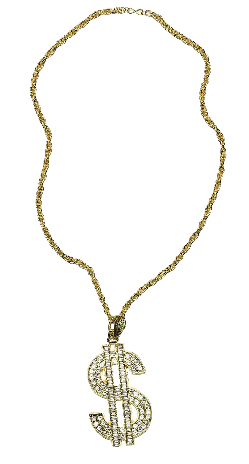 Gold money chain clipart clip black and white library Thug Life Gold Chain Dollar Rocks transparent PNG - StickPNG clip black and white library
