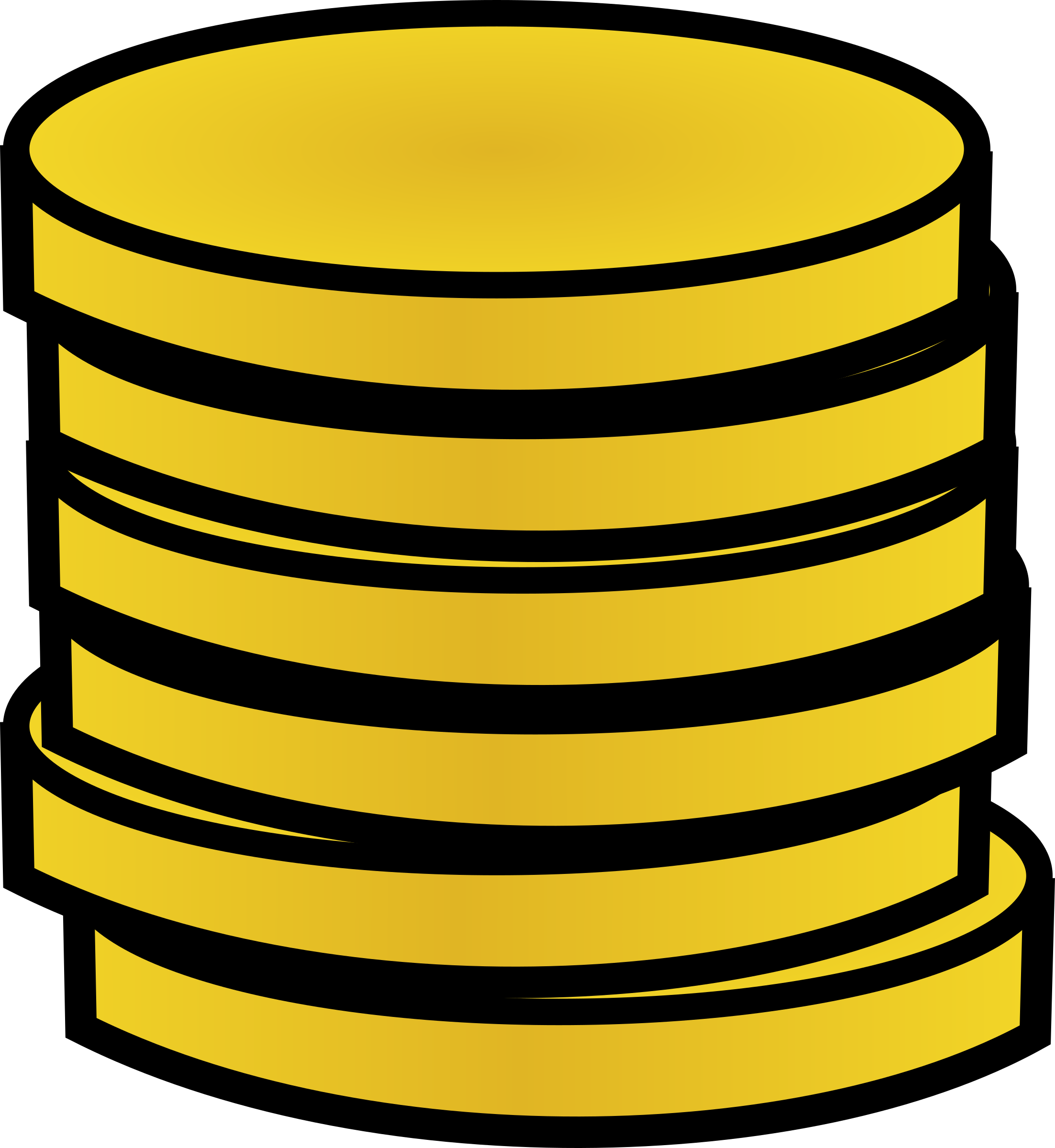 Stack of money clipart graphic royalty free stock Clipart - Stack of gold coins graphic royalty free stock