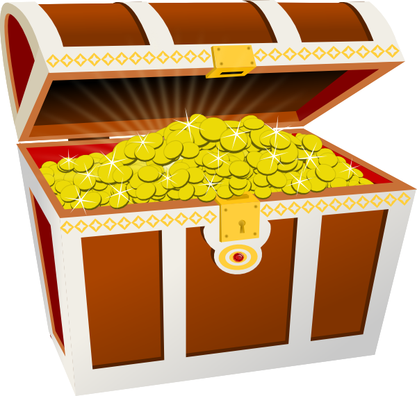 Pirate money clipart svg free stock Gold Treasure Clip Art at Clker.com - vector clip art online ... svg free stock