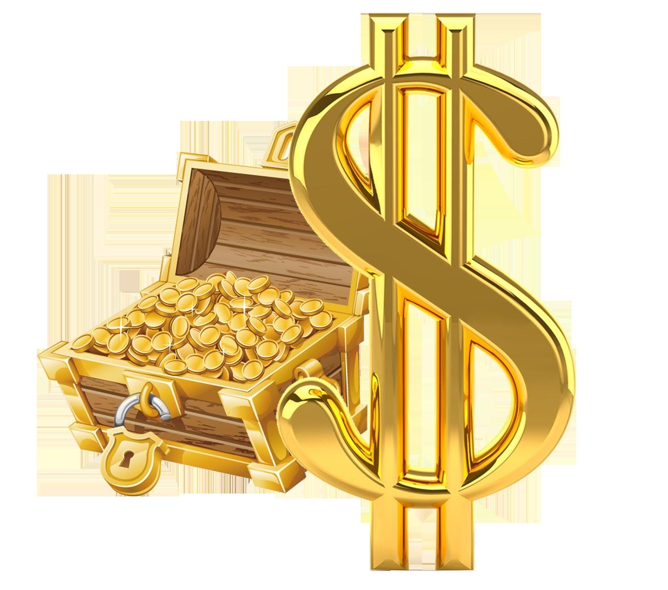 Gold money symbol clipart