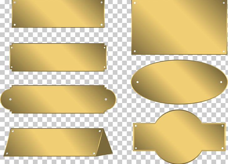 Gold name plate clipart graphic transparent download Metal Name Plates & Tags Gold Bronze PNG, Clipart, Angle ... graphic transparent download