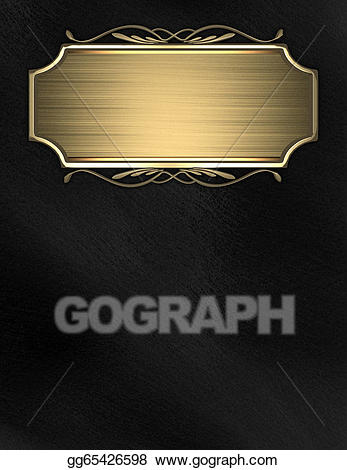 Gold name plate clipart picture royalty free download Stock Illustration - Black background with gold nameplate for ... picture royalty free download