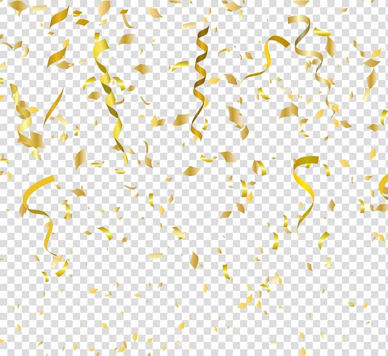 Gold party clipart png confetti whtie background picture download Paper Birthday cake Party Christmas, painted golden fireworks ... picture download