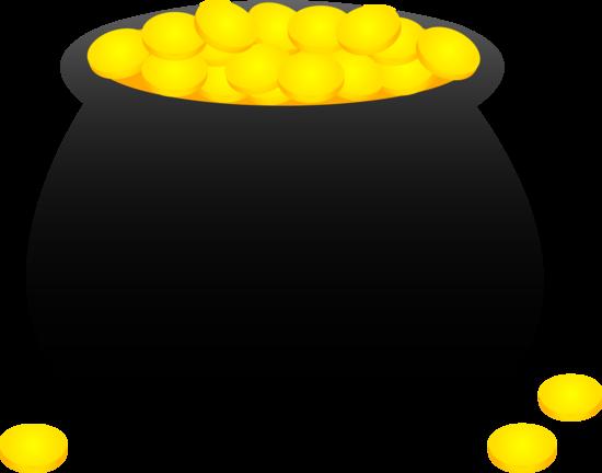 Gold pot clipart vector pot of gold clipart | Pot of Gold Coins - Free Clip Art | grandkids ... vector