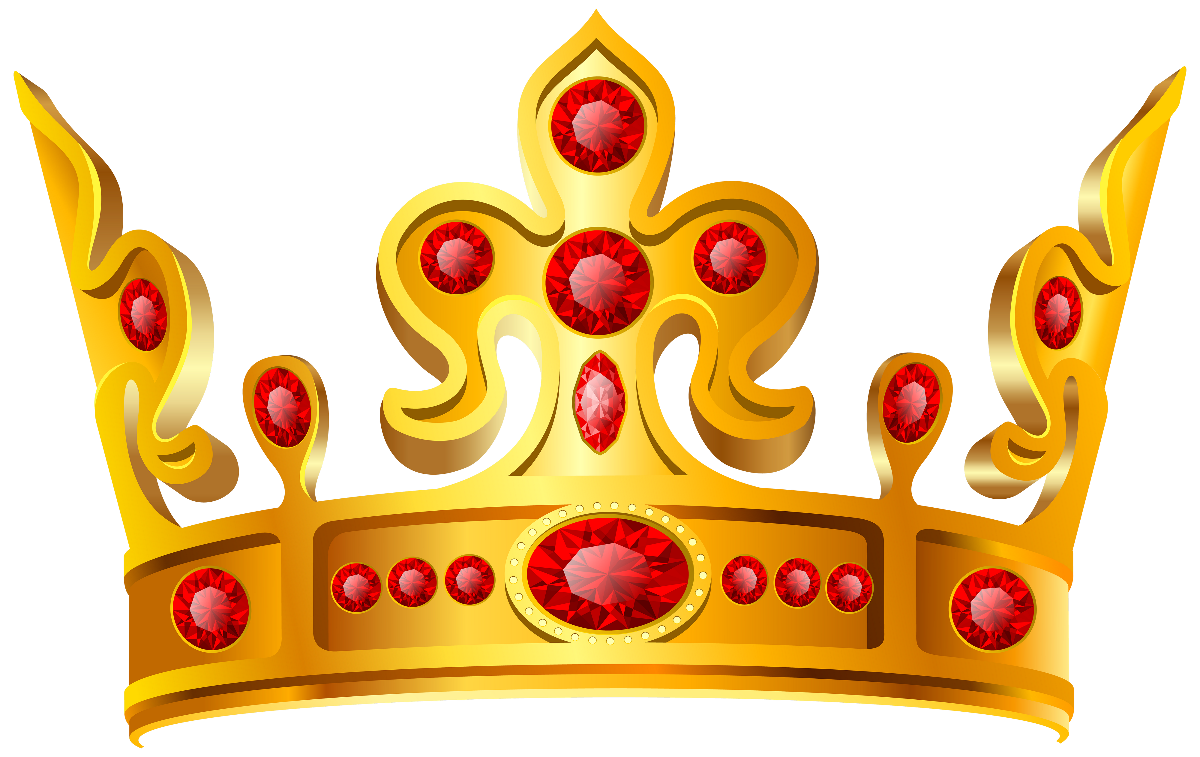 Gold prince crown clipart clip freeuse Gold Crown Red Stone PNG Image - PurePNG | Free transparent CC0 PNG ... clip freeuse