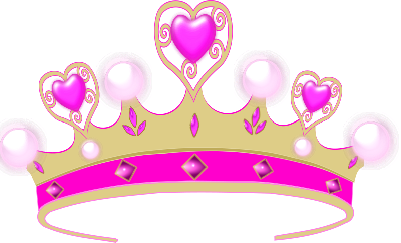 Pink and gold princess crown clipart jpg black and white download Clipart - princess crown jpg black and white download