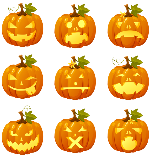 Pumpkin banner clipart black and white stock Halloween Pumpkin Smiles Collection PNG Clipart | Gallery ... black and white stock