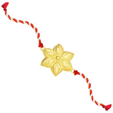 Gold rakhi clipart royalty free library Malabar Gold and Diamonds 22k (916) Yellow Gold Rakhi: Amazon.in ... royalty free library