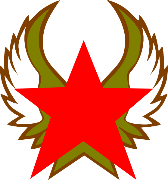 Gold red star clipart graphic black and white library Red Star With Gold Wings Clip Art at Clker.com - vector clip art ... graphic black and white library