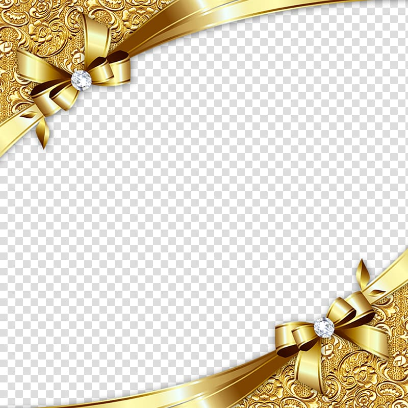 Gold ribbon border clipart graphic freeuse stock Gold, Gold Diagonal Border, brown ribbon frame transparent ... graphic freeuse stock