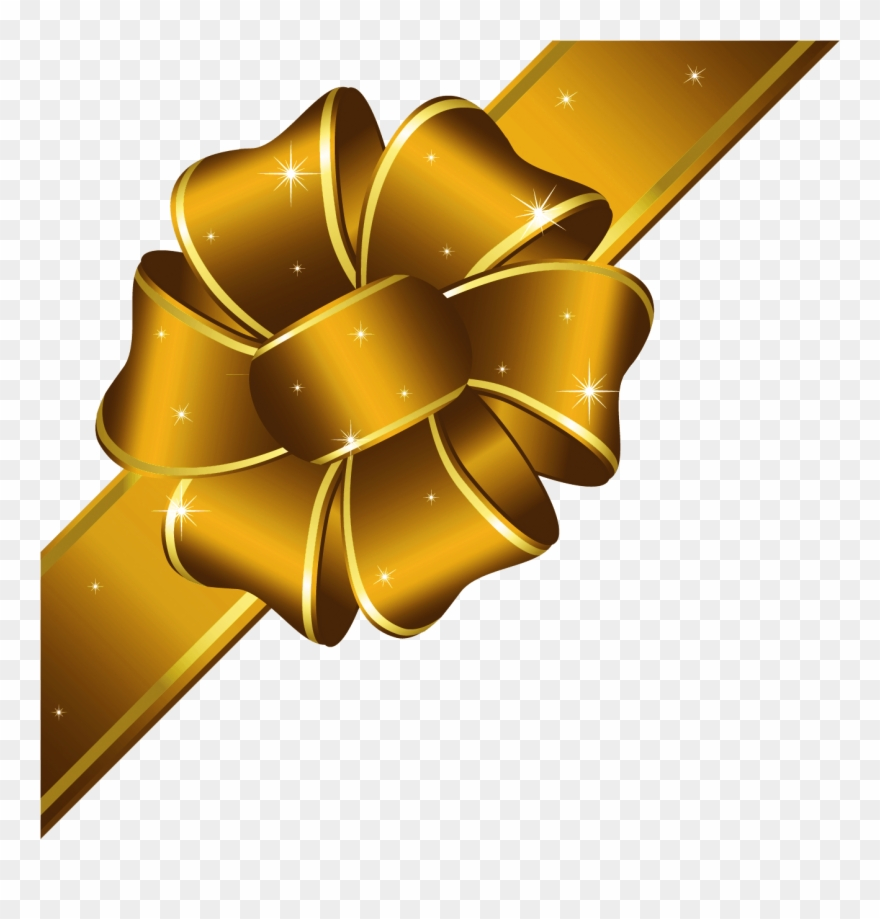 Gold ribbon clipart images jpg transparent download Gold Bow Clipart - Christmas Gold Ribbon Png Transparent Png (#18751 ... jpg transparent download