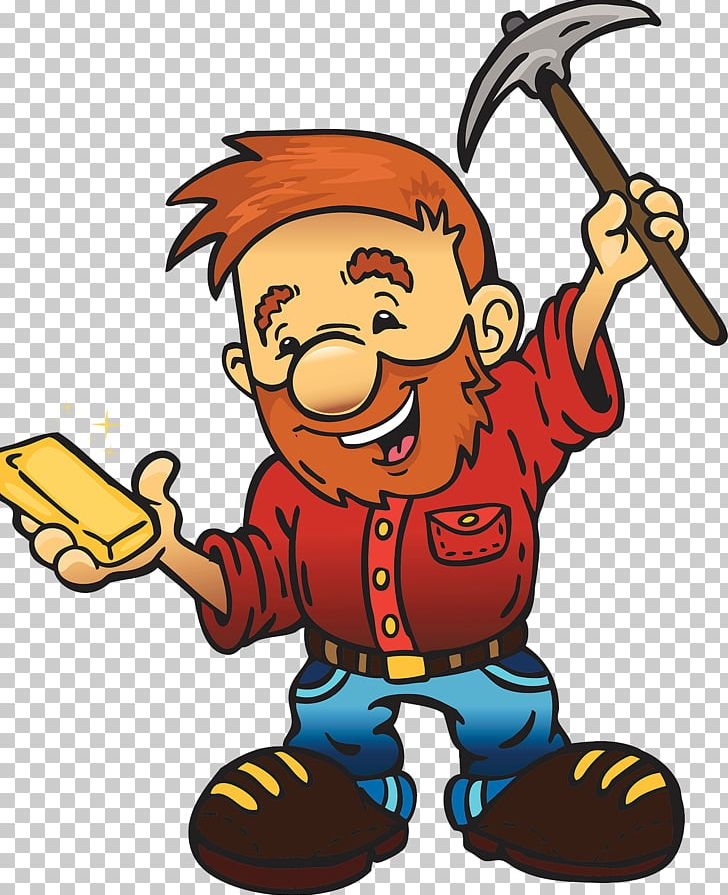 California Gold Rush Gold Miner 8bit Gold Mining Cartoon PNG ... clip art library