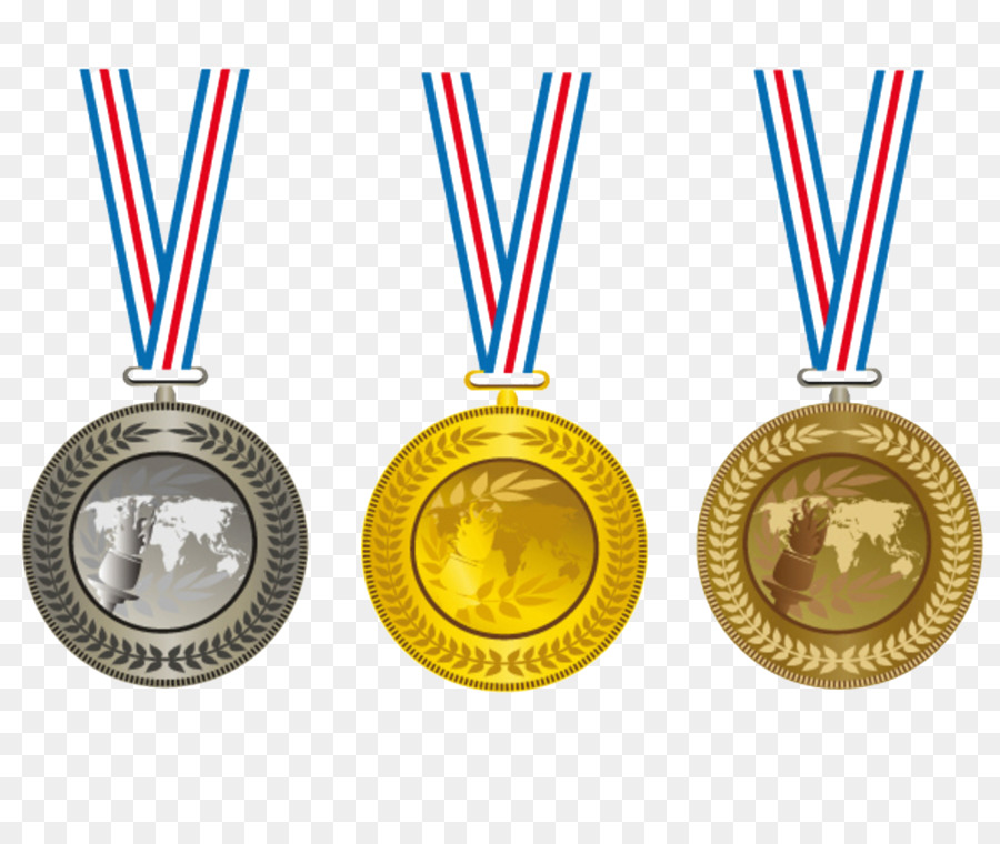 Gold silver bronze medals clipart free Cartoon Gold Medal png download - 1024*861 - Free Transparent Medal ... free