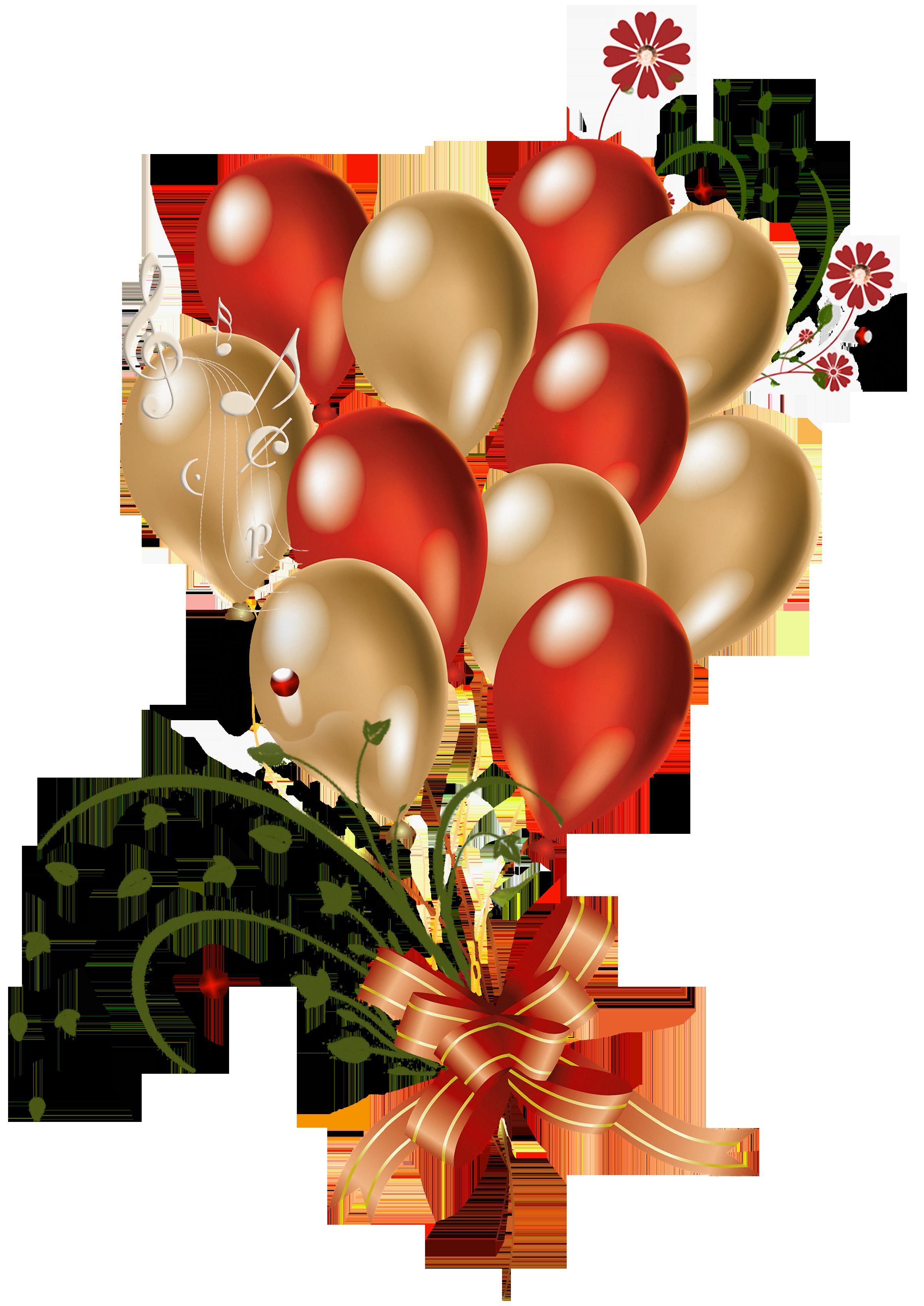 Heart balloons clipart vector transparent download Transparent_Red_and_Gold_Balloons_Clipart.png (PNG Image, 2400 ... vector transparent download