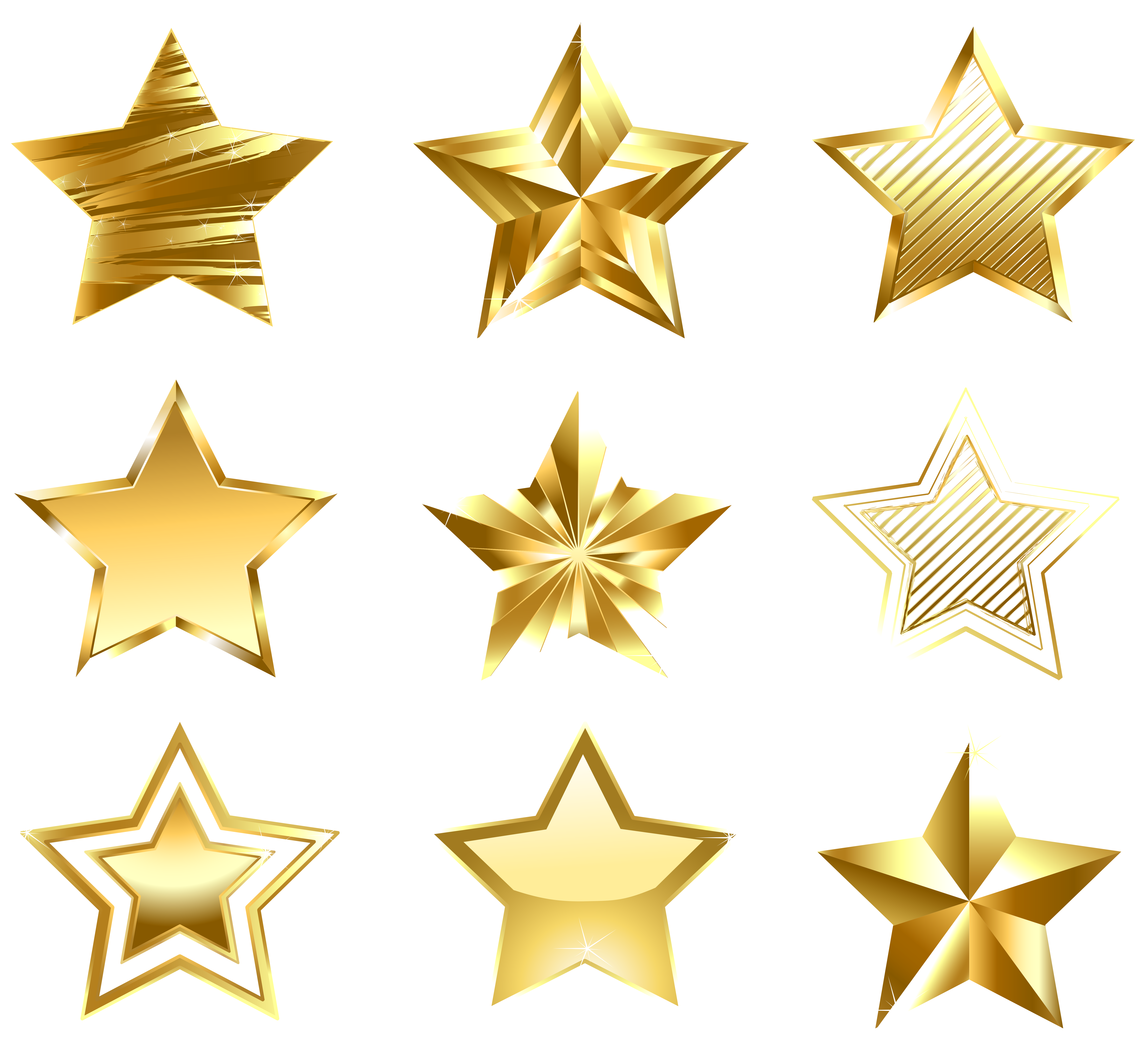 Rustic star png clipart banner transparent stock Transparent Golden Stars Set PNG Clipart | Gallery Yopriceville ... banner transparent stock