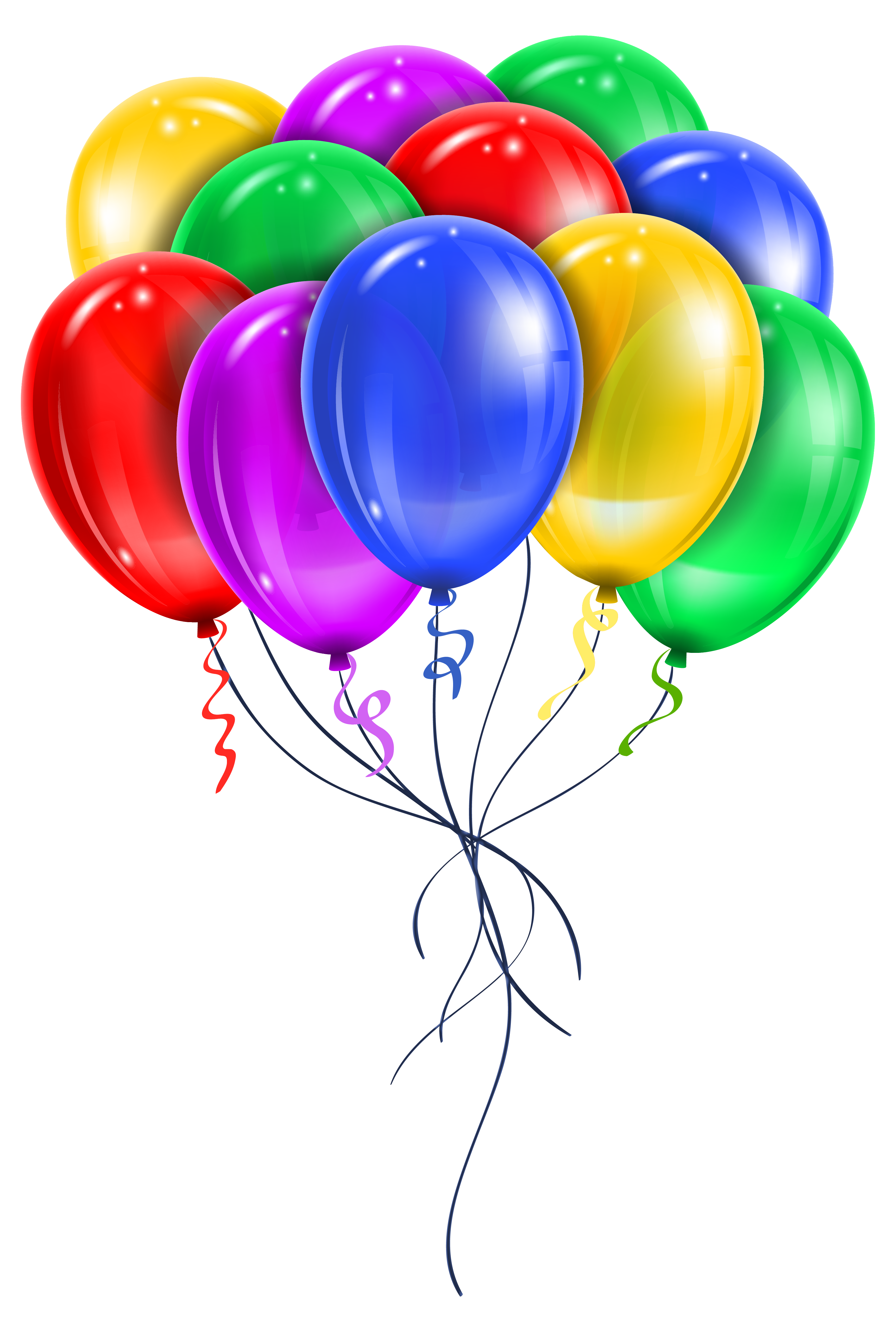 Star balloons clipart transparent stock Transparent Multi Color Balloons PNG Picture Clipart | birthday wish ... transparent stock