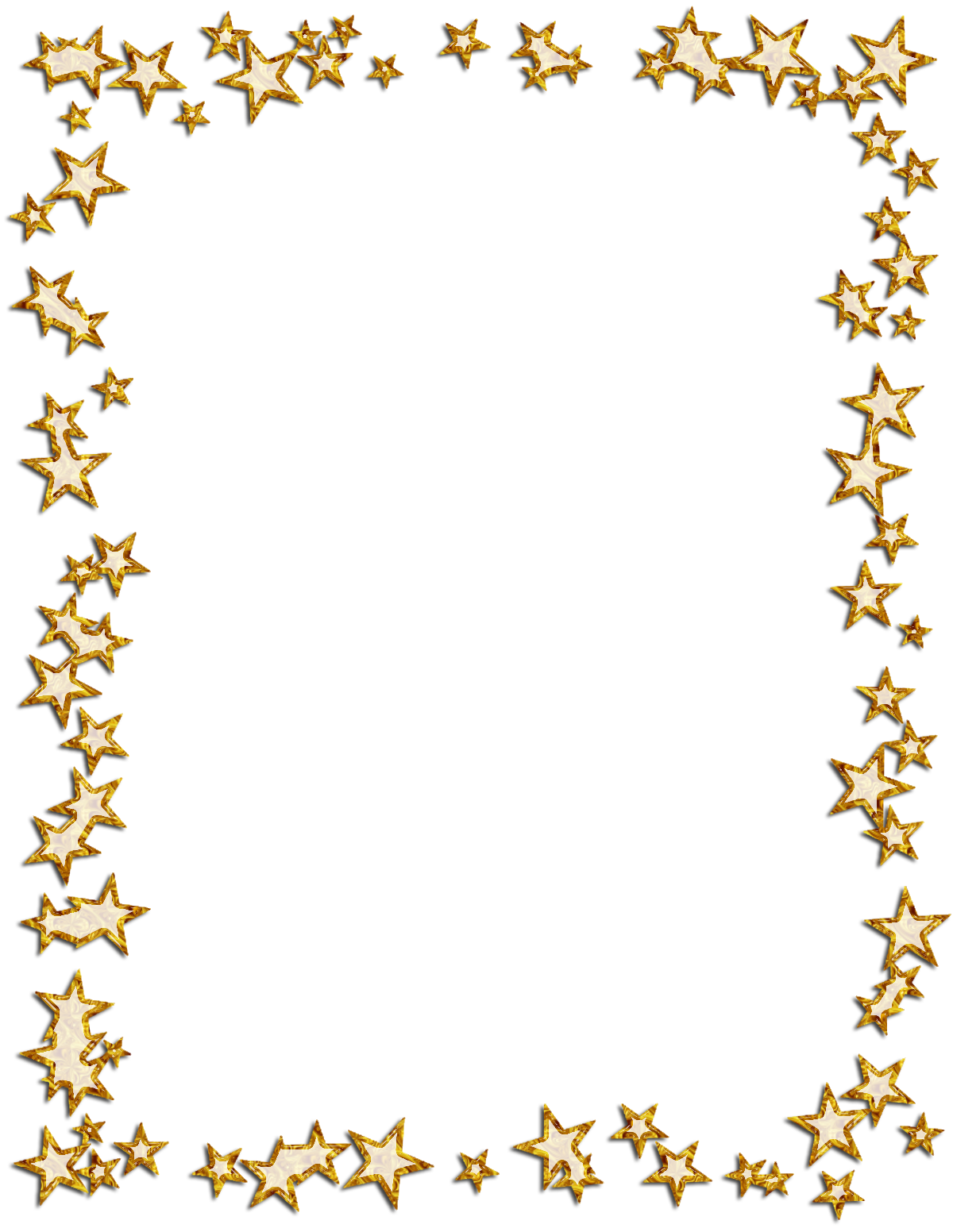Gold star border clipart clipart black and white Borders and Frames Picture Frames Star Photography Clip art - gold ... clipart black and white