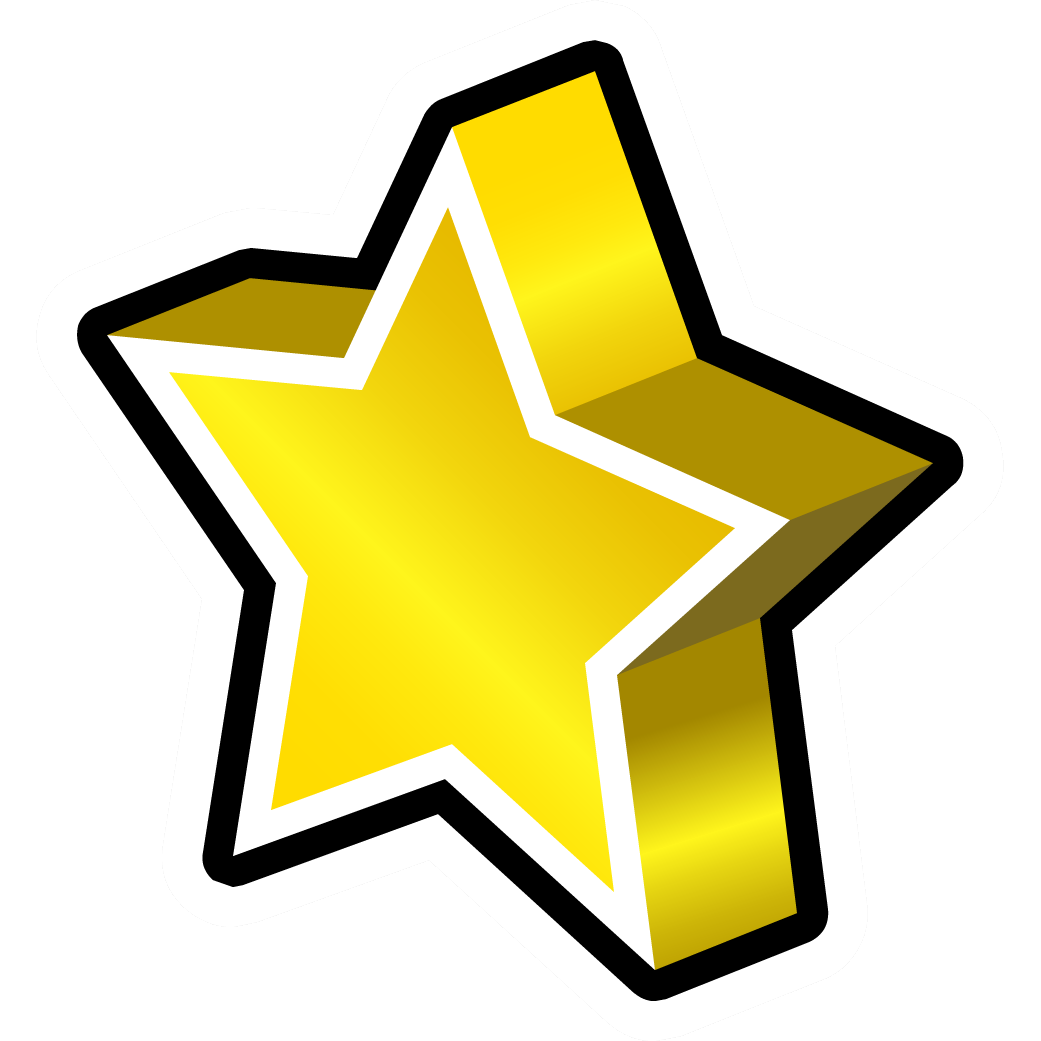 Gold star line clipart clip art transparent download Gold Star Pin | Club Penguin Wiki | FANDOM powered by Wikia clip art transparent download