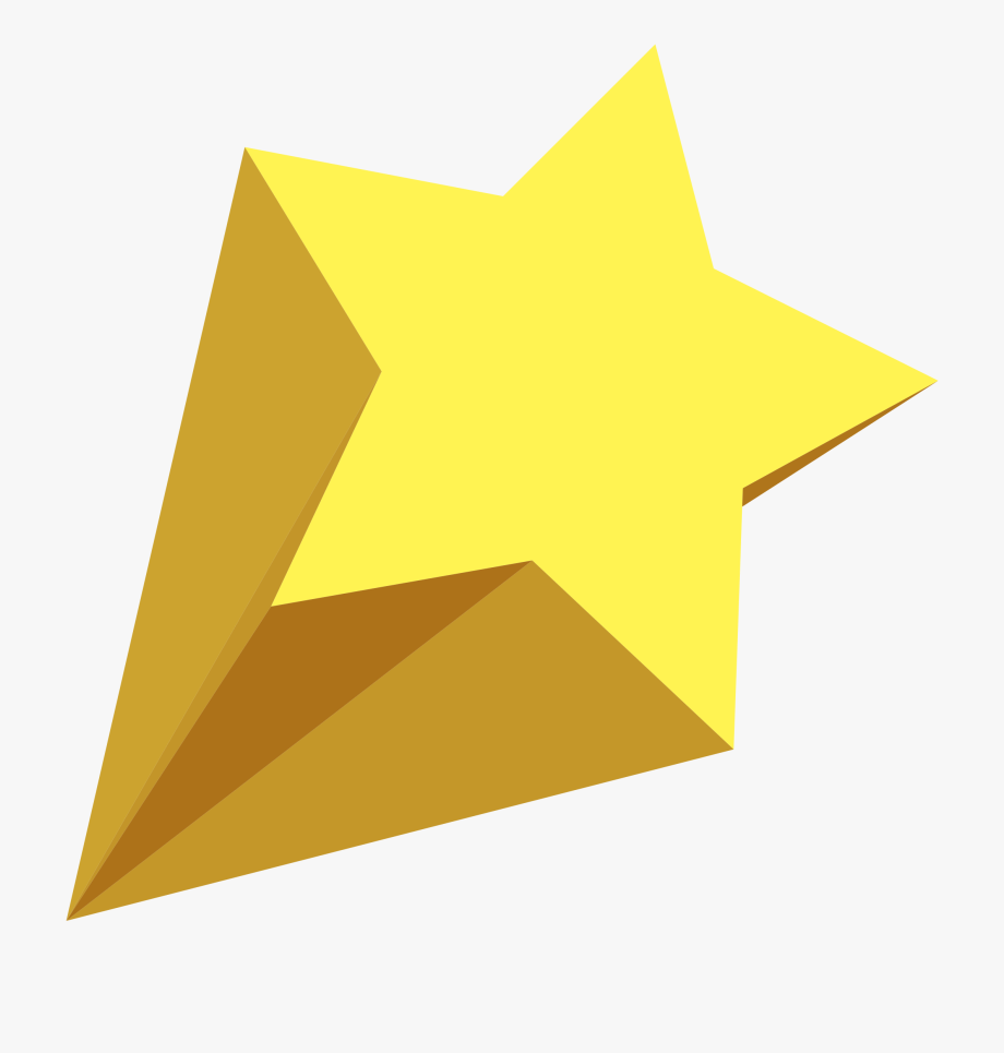 Gold star spray clipart jpg royalty free library Star Clipart Yellow - 3d Shooting Star Png #1934 - Free Cliparts on ... jpg royalty free library