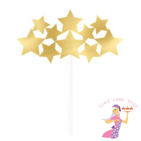 Gold star spray clipart image freeuse stock Gold Mirror Card Star Spray Topper image freeuse stock