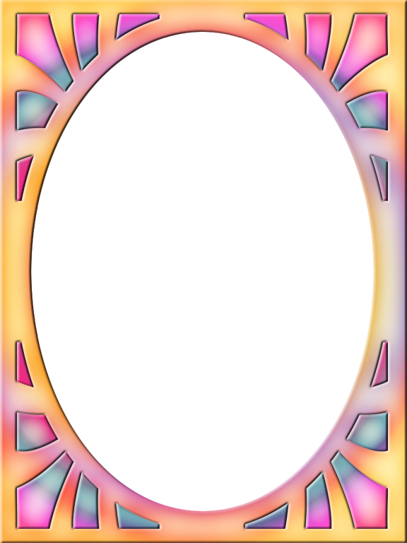 Sun burst clipart picture library library Presentation Photo Frames: Tall Oval Sunburst, Style 08 ... picture library library