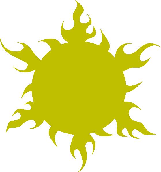 Yellow sun spiral clipart jpg royalty free Sun Gold Green Clip Art at Clker.com - vector clip art online ... jpg royalty free
