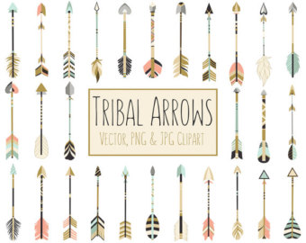 Gold tribal arrow clipart svg royalty free download Gold arrow clip art – Etsy svg royalty free download