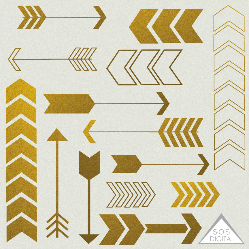 Gold tribal arrow clipart clip art free library Gold Arrow Clipart Clipart Arrows Cute Arrows Digital clip art free library
