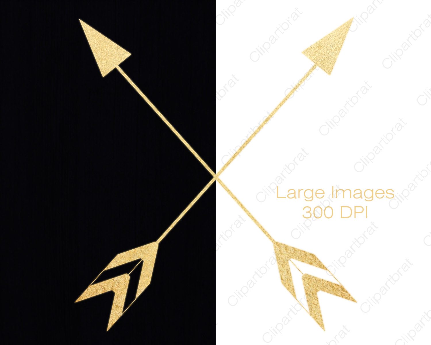 GOLD FOIL ARROW Clipart Commercial Use Clip Art Metallic Gold ... image royalty free