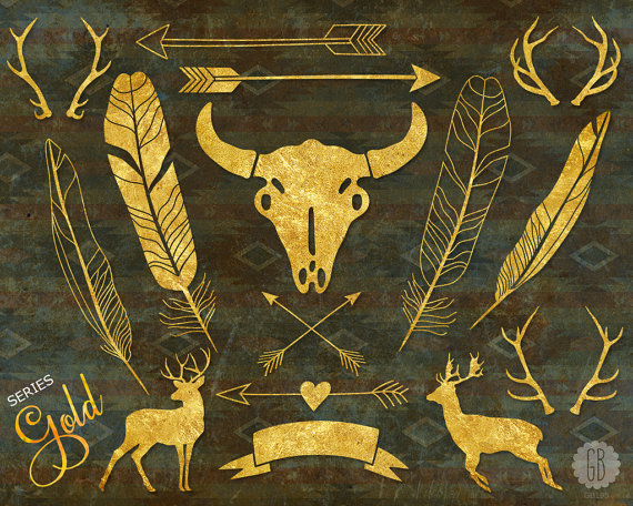 Gold tribal arrow clipart - ClipartFest free stock