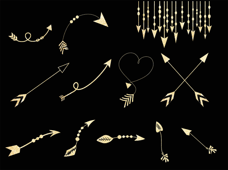 Gold tribal arrow clipart - ClipartFest jpg royalty free stock