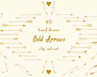 Gold tribal arrow clipart png black and white download Gold arrows clipart | Etsy png black and white download